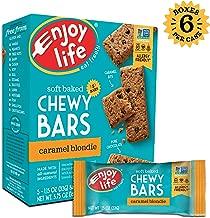 Enjoy Life Chewy Bars, Soy free, Nut free, Gluten free, Dairy free, Non GMO, Vegan, Caramel Blondie, 6 Boxes (30 Bars)