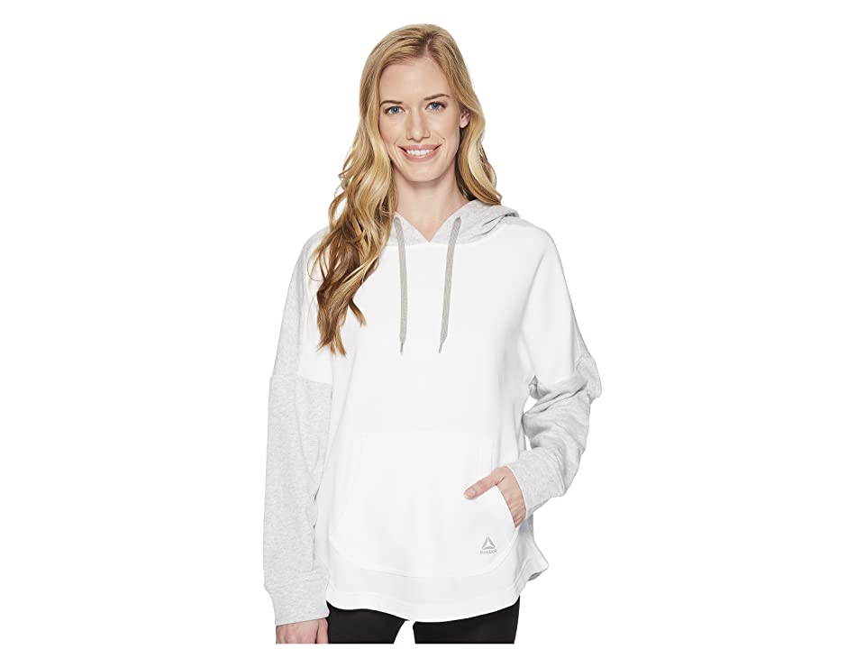 Reebok French Terry Long Sleeve Cover-Up (Light Grey Heather) Women