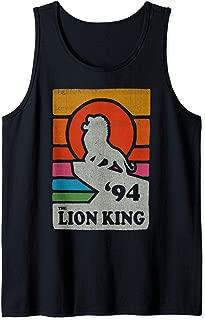 The Lion King Pride Rock Retro Line Art Poster Tank Top