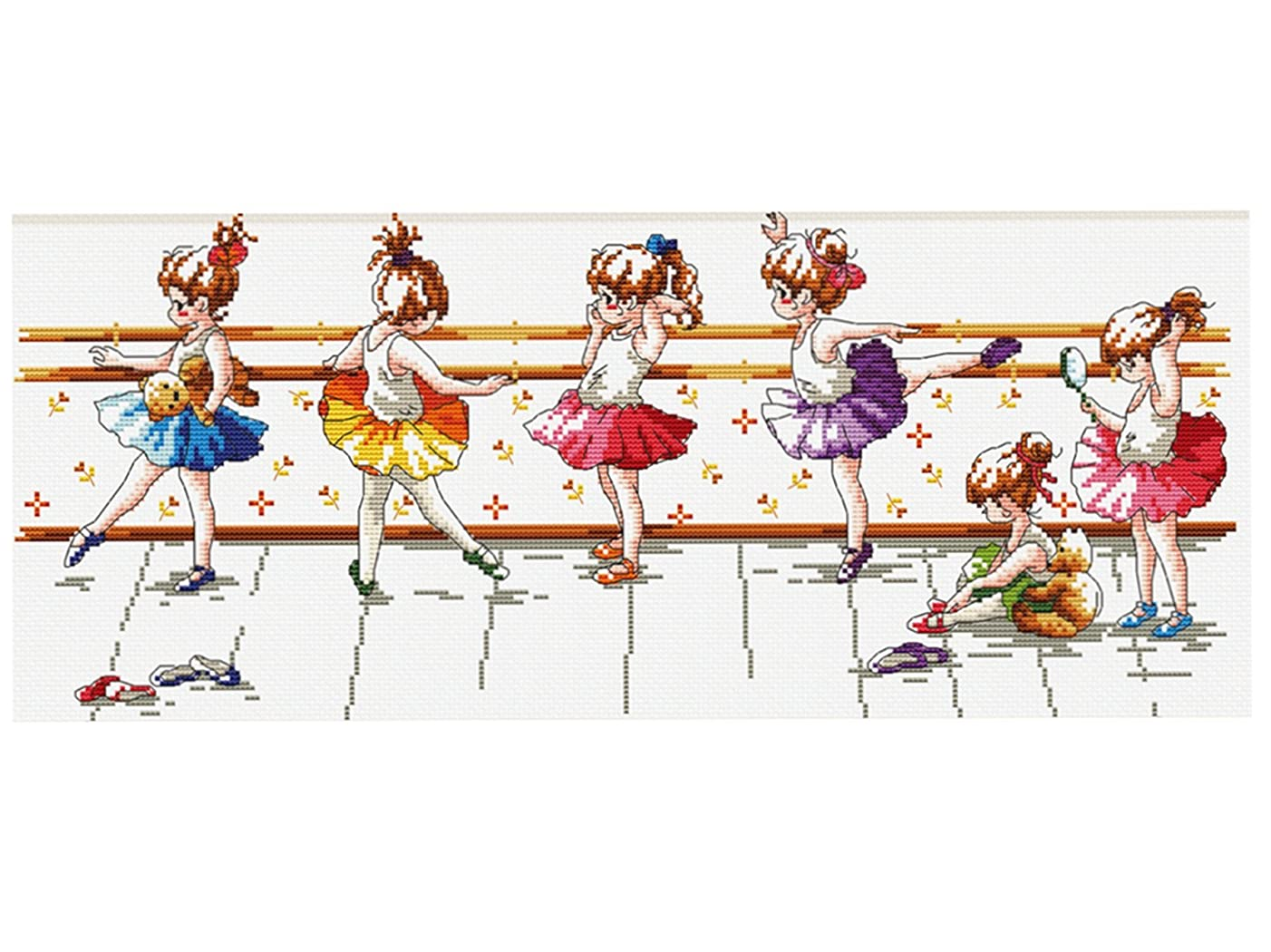 TINMI ATRS DIY Counted Cross Stitch Kits Printed Needlework Embroidery Kits 11CT Home Decor(26