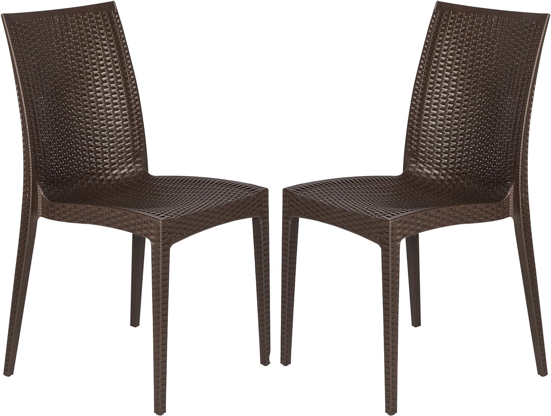 LeisureMod Hickory Indoor-Outdoor discount Max 73% OFF Modern Stackable Design Weave
