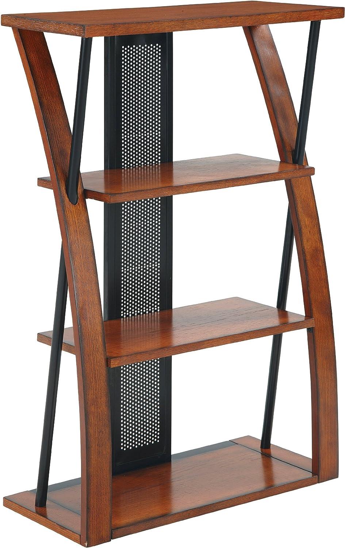 OSP Home Furnishings Aurora 3 Shelf Medium New Shipping Free Shipping 5 ☆ very popular Oak Finis Bookcase in