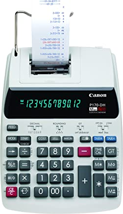 $50 » Canon Office Products 2204C001 Canon P170-DH-3 Desktop Printing Calculator with Currency Conversion, Clock & Calendar, and Time Calculation