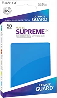 Ultimate Guard Supreme Japanese UX Card Sleeves (60 Piece), Matte Royal Blue