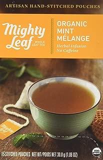 Mighty Leaf Tea Organic Mint Melange Hand-Stitched Tea Bags, 15 ct