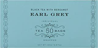 Harney & Sons Earl Grey Tea - 50 Individually Wrapped Tea Bags - Black Tea with Bergamot