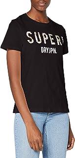 Superdry Super JPN Sequin tee Camiseta para Mujer