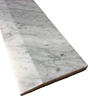 White Carrara Marble One High Beveled Threshold (Marble Saddle) -Polished- (5 x 36)