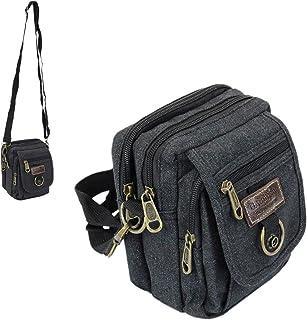 Leoodo Klassische Umhängetasche Damen&Herren kleine Schultertasche Messenger Bag Mini-Tasche Brieftasche Crossbody Handtas...