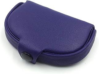 franartPiel - Pastillero con interior de piel 3 compartimentos hecho en Piel Ubrique - Alta Calidad - Morado