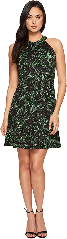 Abstract Palm Ponte Dress