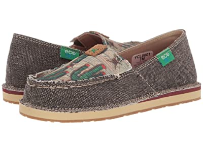 Twisted X Slip-On Loafer (Little Kid/Big Kid) (Dust/Cactus Print) Shoes