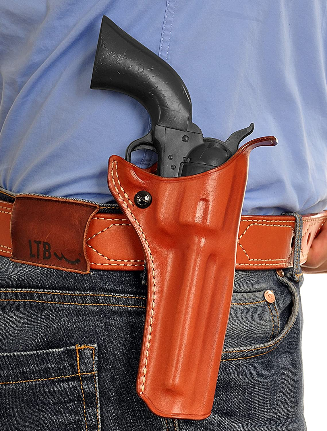 Premium Leather OWB Paddle 人気海外一番 Holster Revolver Fits Top ショップ with Open