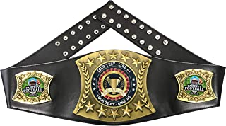 Express Medals Custom Fantasy Football Trophy Personalized Championship Leather Belt EG100