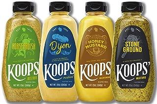 Koops' Best Sellers Mustard Variety Pack, 12 oz. Bottle, 4-Pack