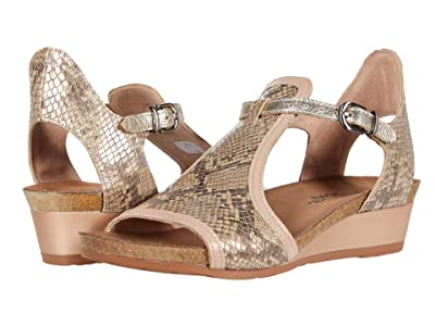 Naot Fiona (Golden Cobra Leather/Pink Nude Leather/Radiant Gold Leather) Women