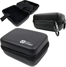 DURAGADGET Black Hard Shell EVA Box Case with Carabiner Clip & Twin Zips - Suitable for Use with The Aukey DR01 Dash Cam 1080P