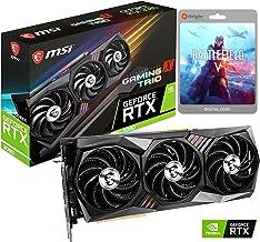 MSI GeForce RTX 3080 Gaming X Trio Graphics Card, 10GB GDDR6X, Ray Tracing, VR Ready, Tri Frozr 2 Thermal Design, 3X Displ...