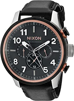 Nixon - The Safari Dual Time Leather