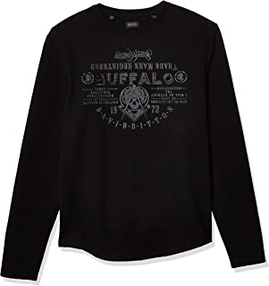Buffalo Men's Long Sleeve Sweatshirt is Regular Wash with Front Graphic