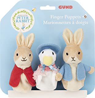 """GUND Beatrix Potter Classic Finger Puppets Set of 3 Soft Plush for Ages 1 &Up, 3"""""""