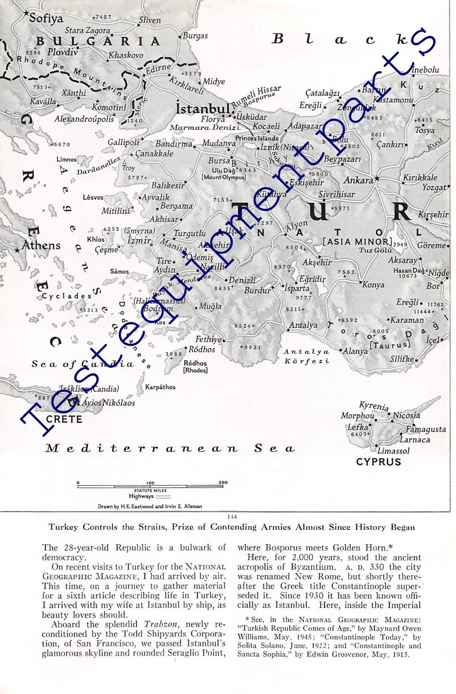 Print Max 74% OFF Ad 1951 Bargain sale Turkey Controls Straits the History Began Since