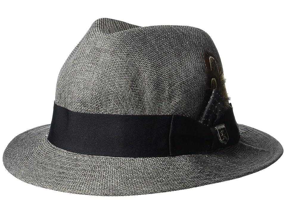 7b46ae7c9babd Stacy Adams Matte Toyo Fedora (Grey) Fedora Hats