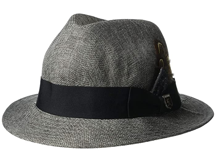 Stacy Adams Matte Toyo Fedora (Grey) Fedora Hats