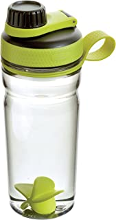 Rubbermaid Shaker Cup for Protein Shakes - 20-Ounce Protein Shaker Bottle for Mixing Whey Protein Powder, Juice, and Smoothies - BPA-Free, Comes with Finger Loop and Blender Paddle Ball - Green,Black