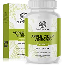 Apple Cider Vinegar by Nutrienne High Strength 1000mg Made in UK Vegan Friendly Capsules Natural-Source Ingredients for Weight Management and Digestion Support Premium Quality Supplement Estimated Price : £ 11,99