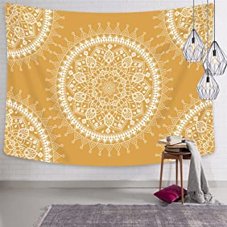 Jiamingyang Flower Elephant Print Wall Hanging Tapestry Bohemian Room Decor Bedding Rug (Large/80