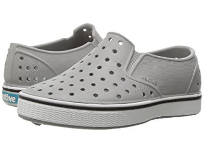 Native Kids Shoes Miles Slip-On (Toddler/Little Kid) (Pigeon Grey/Shell White) Kids Shoes