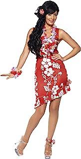 Smiffys Smiffys, Damen Hawaiianische Schönheit Kostüm, Kleid, Haarschmuck und Fußspange, Größe: M, 33043