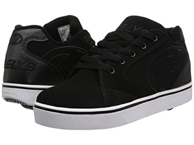 Heelys Vopel (Little Kid/Big Kid/Adult) (Black/Black/White) Boys Shoes