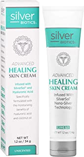American Biotech Labs - Silver Biotics - Advanced Healing Skin Cream - Infused with SilverSol and Hyaluronic Acid - Unscen...