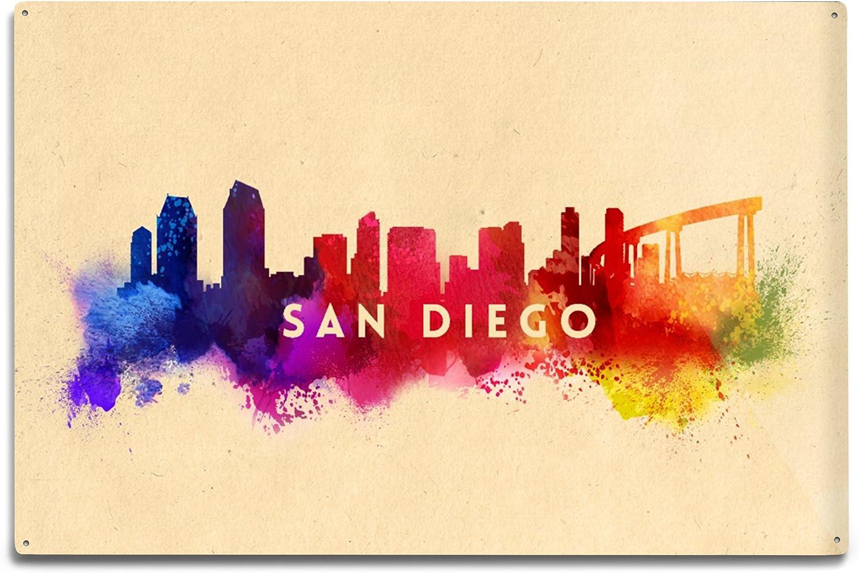 Lantern Press San Diego California Abstract 12x18 Oakland Mall Alu Ranking TOP13 Skyline