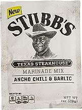 Stubb's Ancho Chili & Garlic Texas Steakhouse Marinade Mix, Gluten-Free, 1oz (Pack of 12)