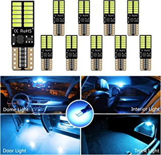 HOCOLO 10x T10 198 194 168 912 921 W5W 2825 Ice Blue 8000K Color 24-SMD High Power LED Bulbs Super Bright For Interior Dom...