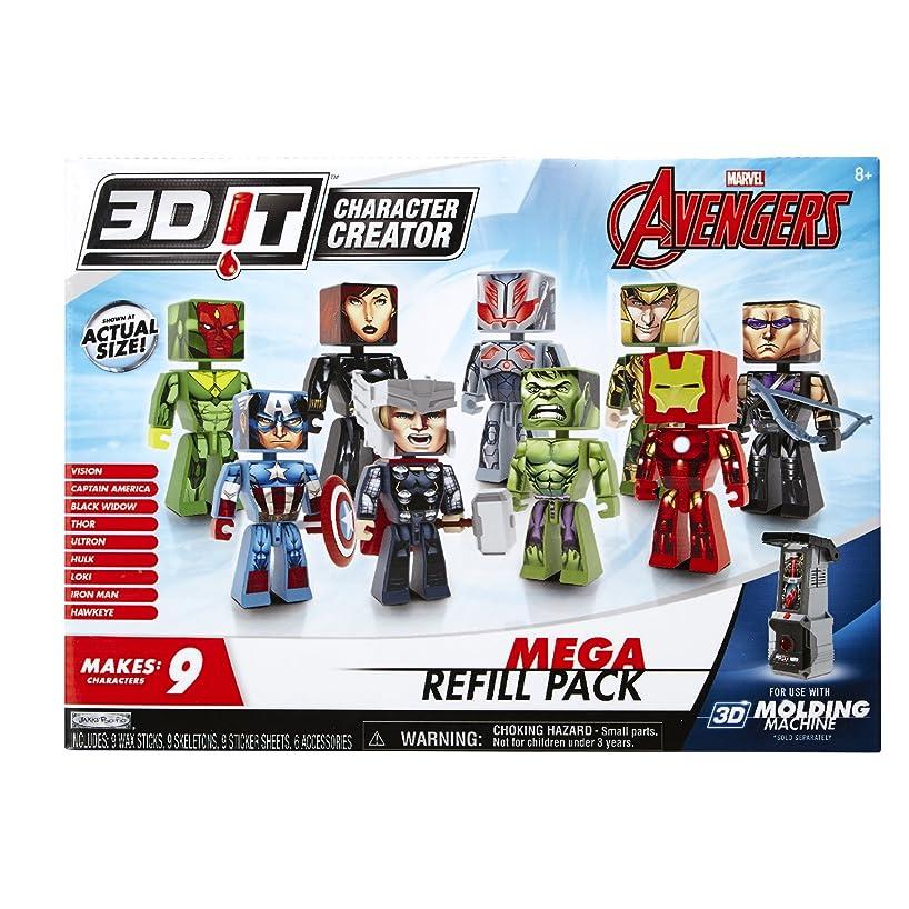 3D Character Creator Marvel Avengers Mega Refill Pack Novelty Toy
