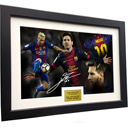 Lionel Messi Signed Mounted Photo Display Barcelona FC #2