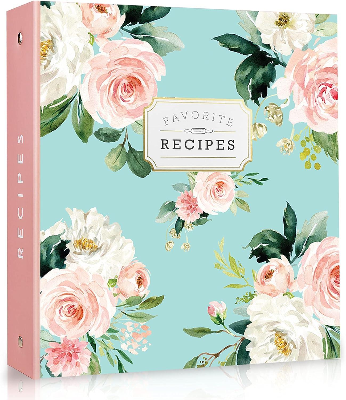 Recipe Binder 3 Ring Organizer Blank recipe book 8.5