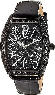 Christian Van Sant Women's Elegant Quartz Leather Strap, Black, 16 Casual Watch (Model: CV4823)