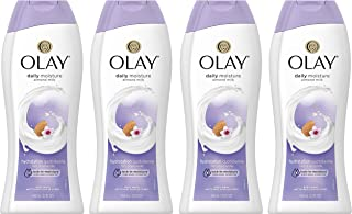 Body Wash for Women by Olay, Daily Moisture with Almond Milk Body Wash, 22 oz, (4 Count)