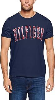 TOMMY HILFIGER Men's College Logo Crew Neck T-Shirt