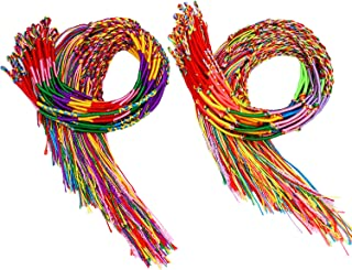 Resinta 100 Pieces Handmade Braided Bracelets Assorted Colors Friendship Cords Thread Bracelets Party Supply Favors for Wrist Anklet