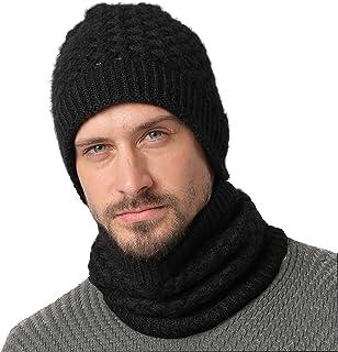 NovForth Winter Beanie Hat Neck Warmer Set Warm Knit Hat Thick Knit Skull Cap for Men Women