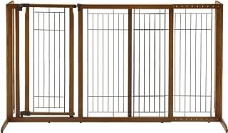 Richell Deluxe Freestanding Pet Gate with Door, Large