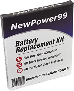 NewPower99 Battery Replacement Kit with Battery, Video Instructions and Tools for Magellan RoadMate 5045LM