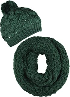 ORSKY Women's Winter Beanie Hat Infinity Scarf Set Warm Knit