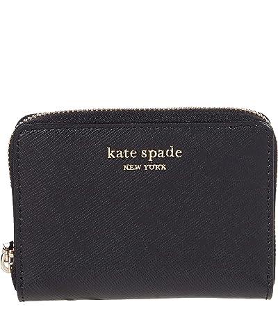 Kate Spade New York Spencer Zip Card Case (Black) Handbags